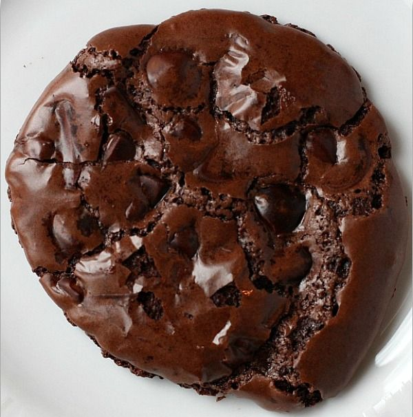 Chewy Gooey Flourless Chocolate Cookies by recipegirl: Delicate and immensely satisfying. Made with powdered sugar, Dutch-process cocoa powder, egg whites,  vanilla, salt and bittersweet chocolate chips. #Chocolate_Cookies #Flourless_Chocolate_Cookies #recipegirl
