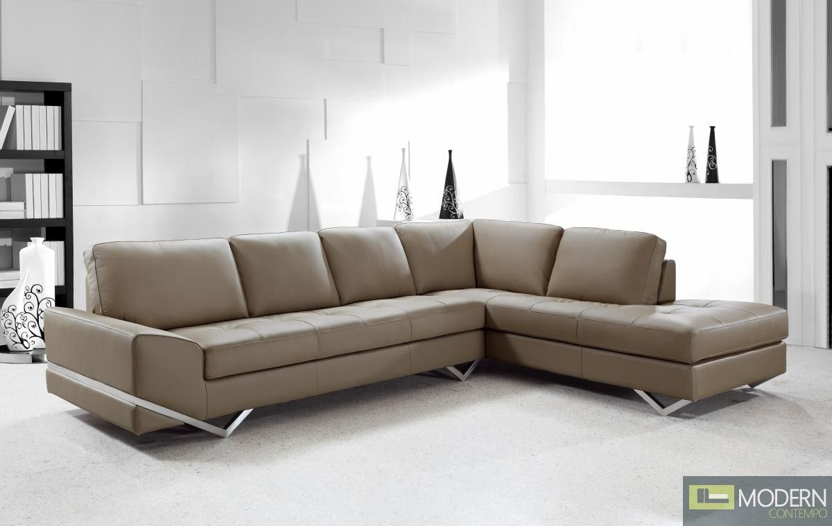 Divani Casa Vanity Modern Leather Sectional Sofa Large
