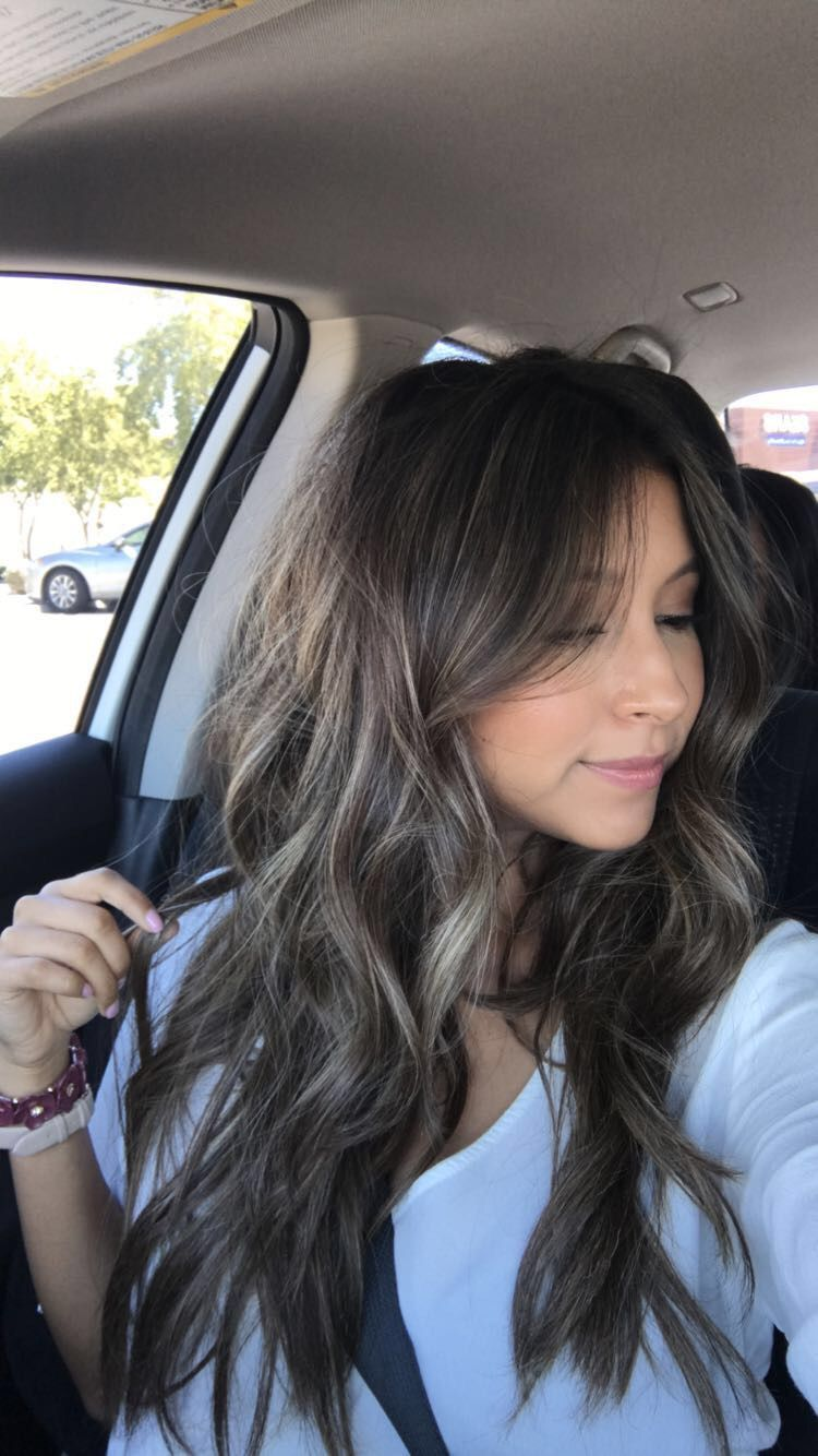 Brunette Sunkissed Hair Bayalage Babylights Summer Road Trip Date Night Hair Hair Inspiration B Brown Hair Balayage Hair Styles Ash Brown Hair Color