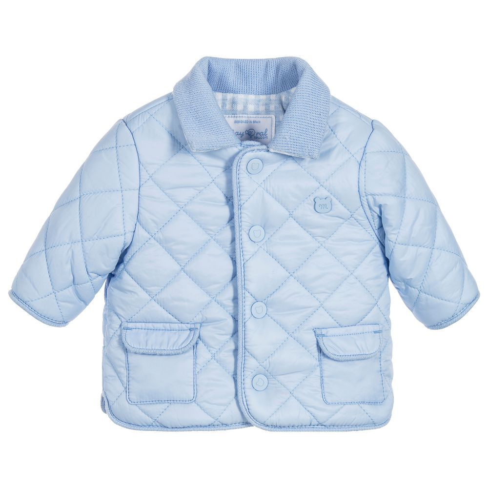 Baby Boys Blue Quilted Jacket | Kids online and Babies : baby quilted jacket - Adamdwight.com