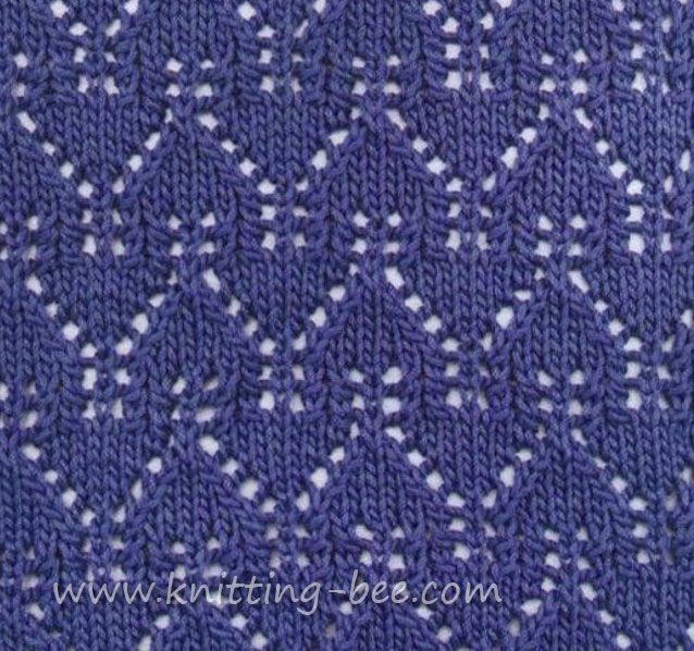Knitting Ssk Stitch : Beautiful gables lace pattern stitch abbreviations k