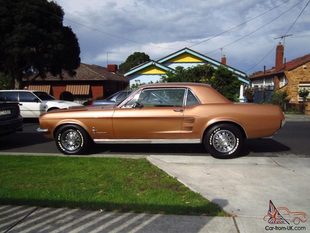 Ford mustang 1967 289 auto burnt amber