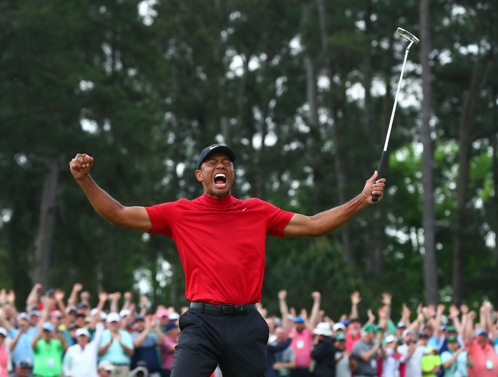 Tiger Woods Amazing Masters Celebration From Every Angle With