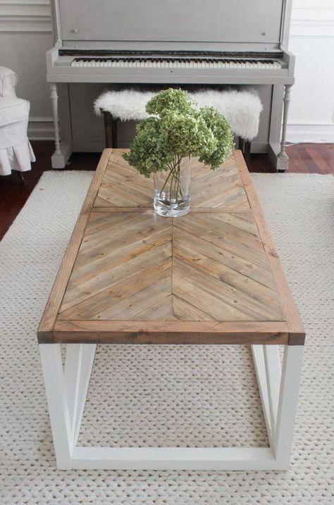Modern Farmhouse Herringbone Coffee Table I D Want To