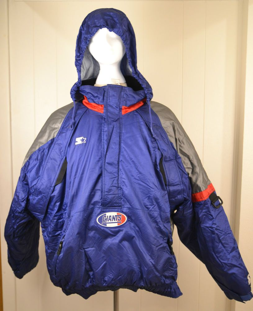 06a23a53 Starter Pro Line New York Giants Pullover Jacket Puffer Winter Coat ...