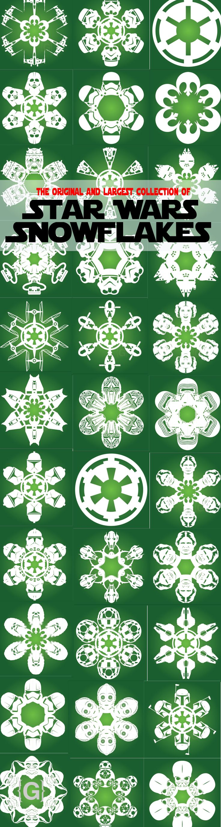 DIY Star Wars Snowflake Designs Download and cut your own today