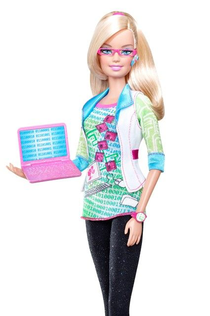 Barbie has fulfilled many careers already including a computer engineer
