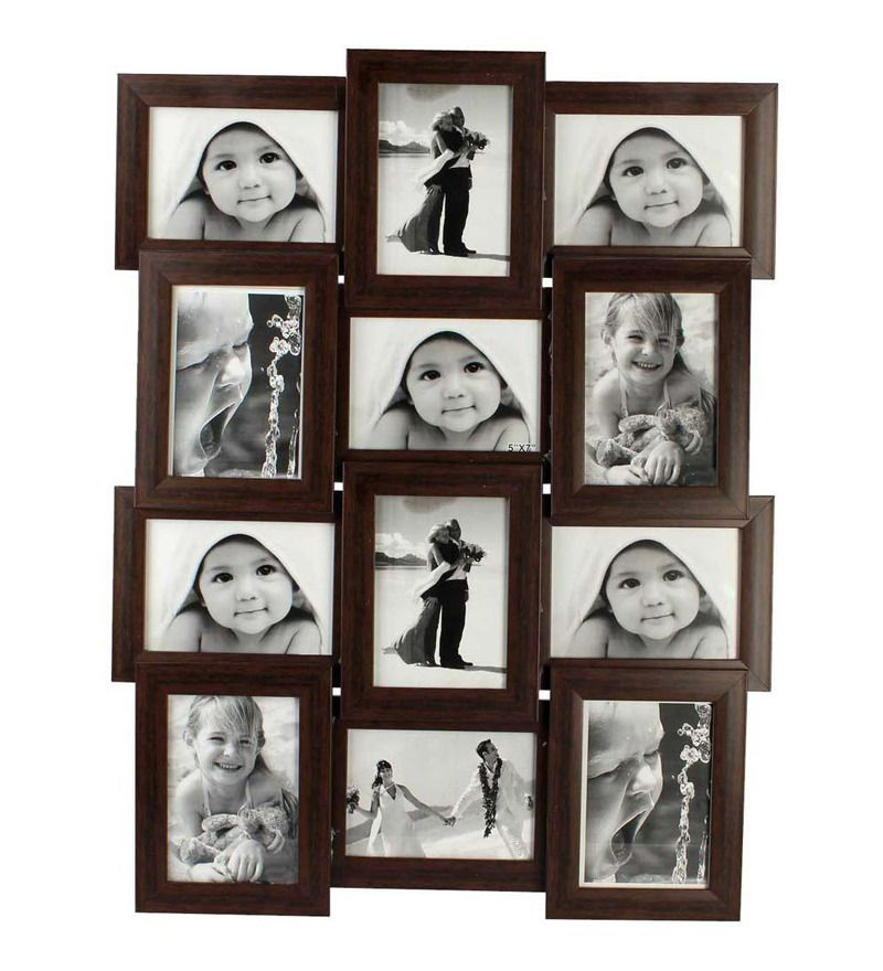 Our Brown Collage Frame Displays Twelve 4 By 6 Inch Prints In A Very