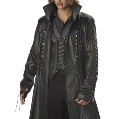 Alligator Skin Leather Men's Trench Coat For Sale