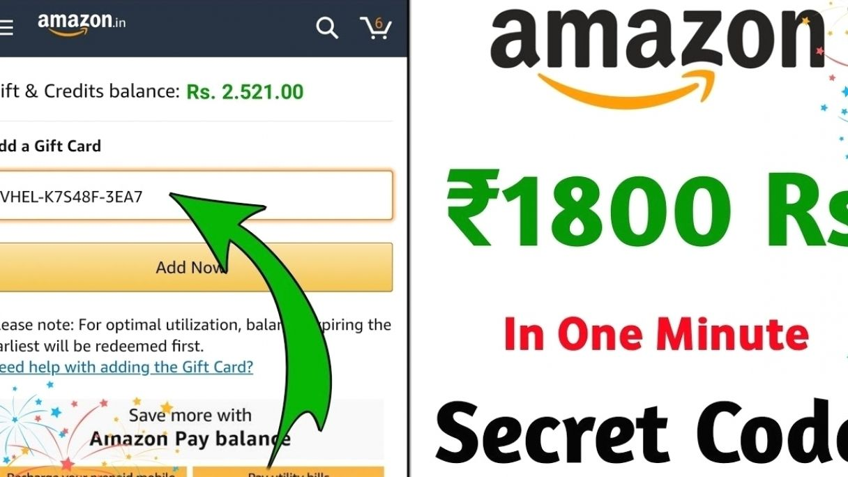 Get Free 1800 Rs Amazon Gift Card Maha Loot Free Amazon Gift Cards Amazon Gift Card Free Amazon Gifts