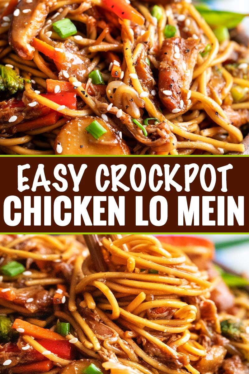 Easy Crockpot Chicken Lo Mein - The Chunky Chef Th