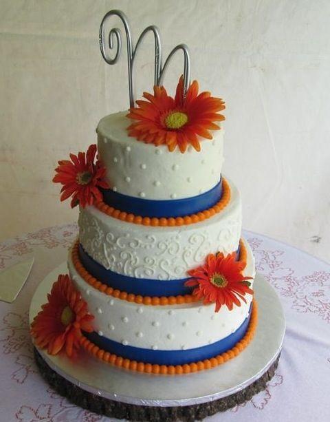 Wedding Cake Blue Orange