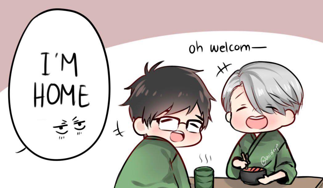 """yurio and his parents ( ° ͜ʖ͡°)"""