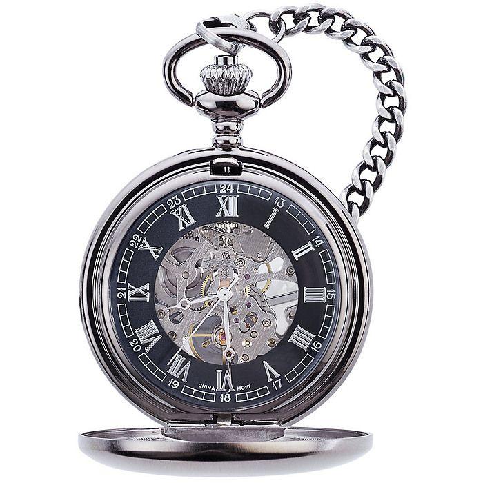 4adc9661d Gunmetal Mechanical Pocket Watch in 2019 | steampunk | Mechanical ...