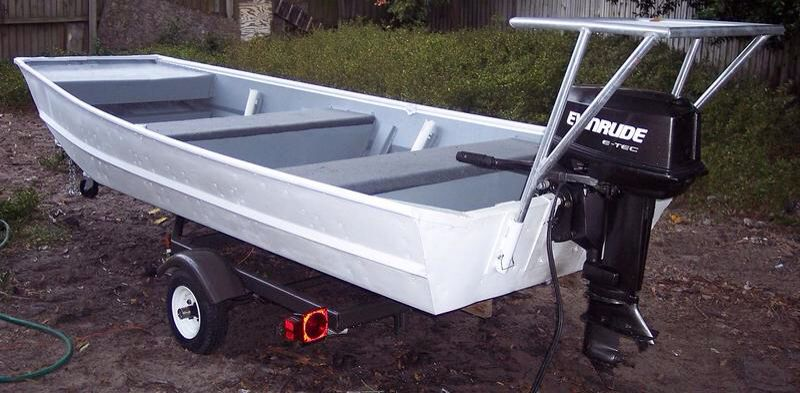 Quick detachable poling platform on aluminum boat   Boat