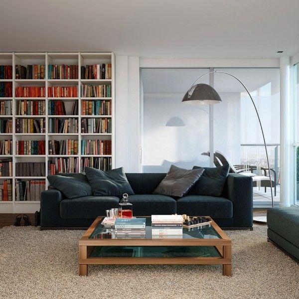 Visualizations modern apartments inspiring industrial lighting classic colors interior design idea shelf