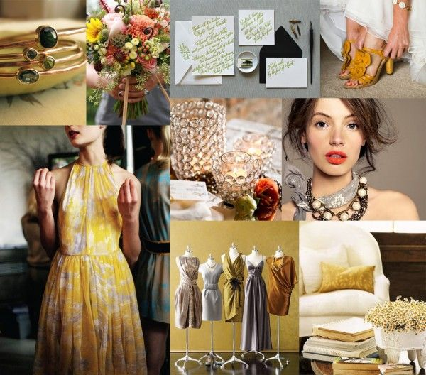 Mustard Olive and Dove Gray Wedding Inspiration Board | Elizabeth Anne Designs: The Wedding Blog