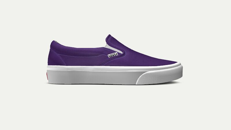 ad25dafec6 Vans Classic Slip-On Customizer liberty purple white