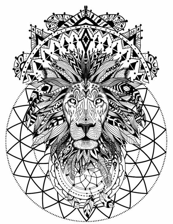 Pin By Laura On Colouring Pages For Adults Lion Mandala Mandala