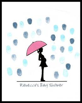 Baby Shower Thumbprint U0026 Fingerprint Guest Book / Tree