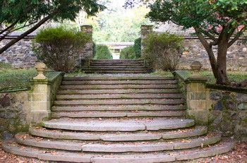 These Fancy Stone Steps Are Part Of The Gardens At Mansion Ridley Creek State Park Pennsylvania