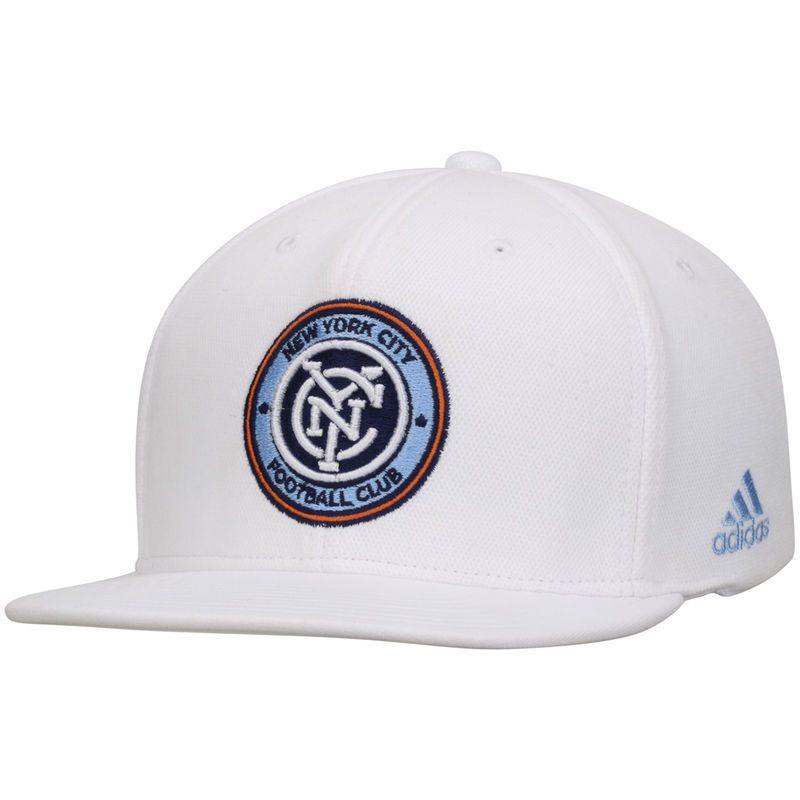e8b89551f33 New York City FC adidas Z.N.E. Flat Brim Snapback Adjustable Hat - White