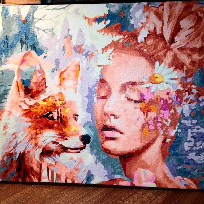 картина по номерам) | Краска, Картины, Искусство