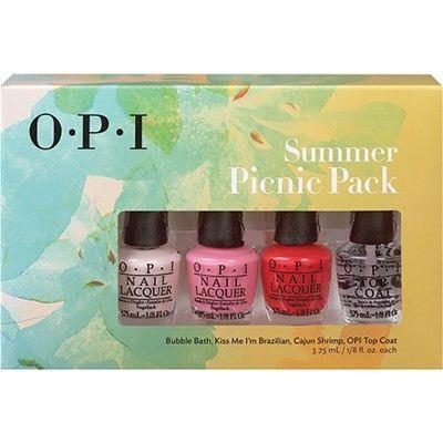 O.P.I Summer Picnic 4 Pack Mini