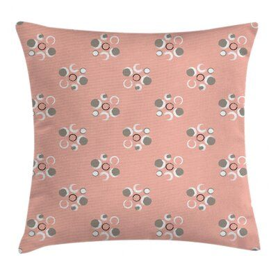 """Coral Floral 40"""" Throw Pillow Cover"""