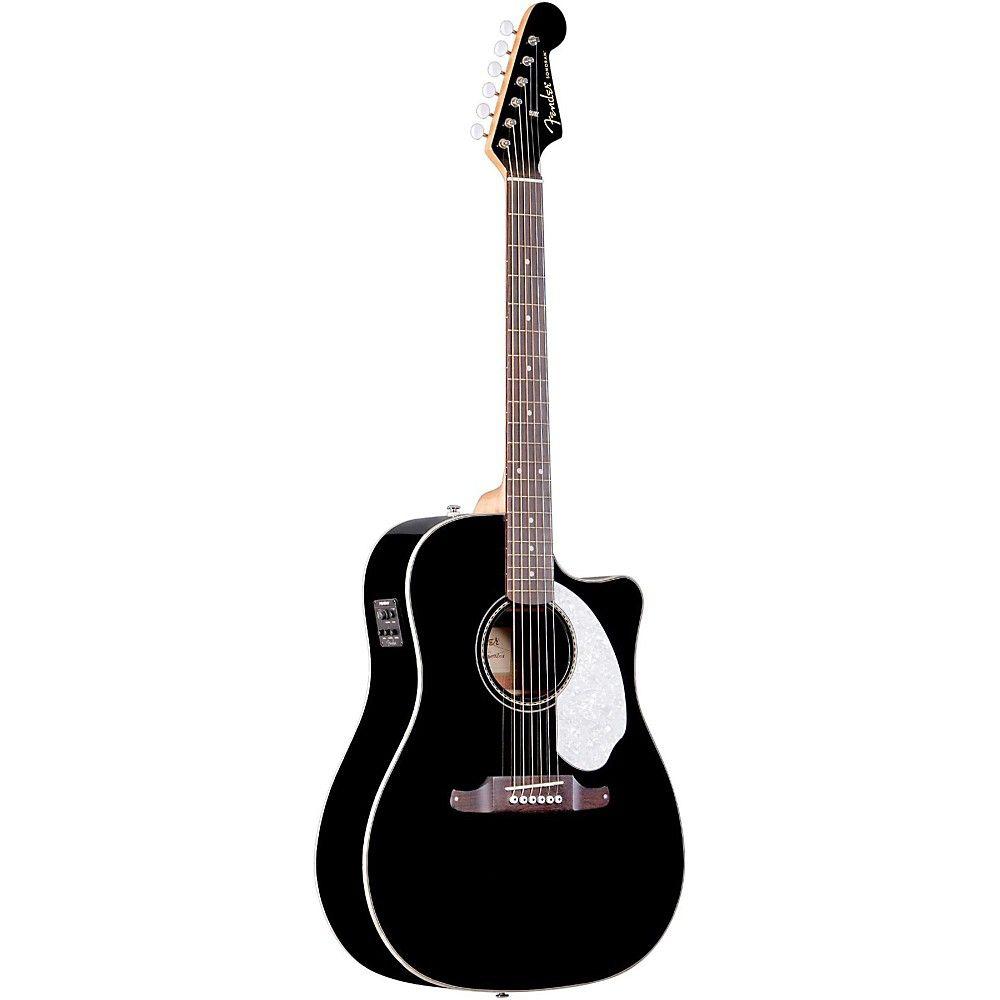 California Series Sonoran Sce Cutaway Dreadnought Acoustic Electric Guitar Black Guitar Fender Guitars Acoustic
