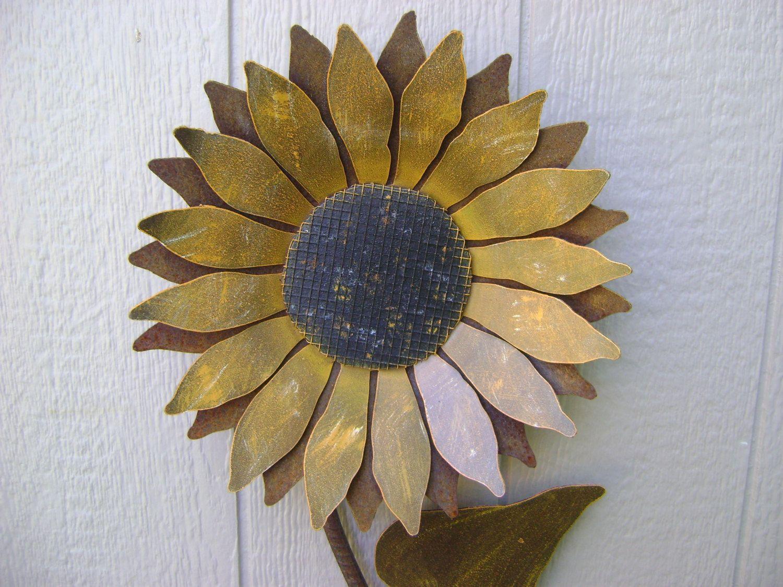 Sunflower Metal Garden Art Wall Rusty By
