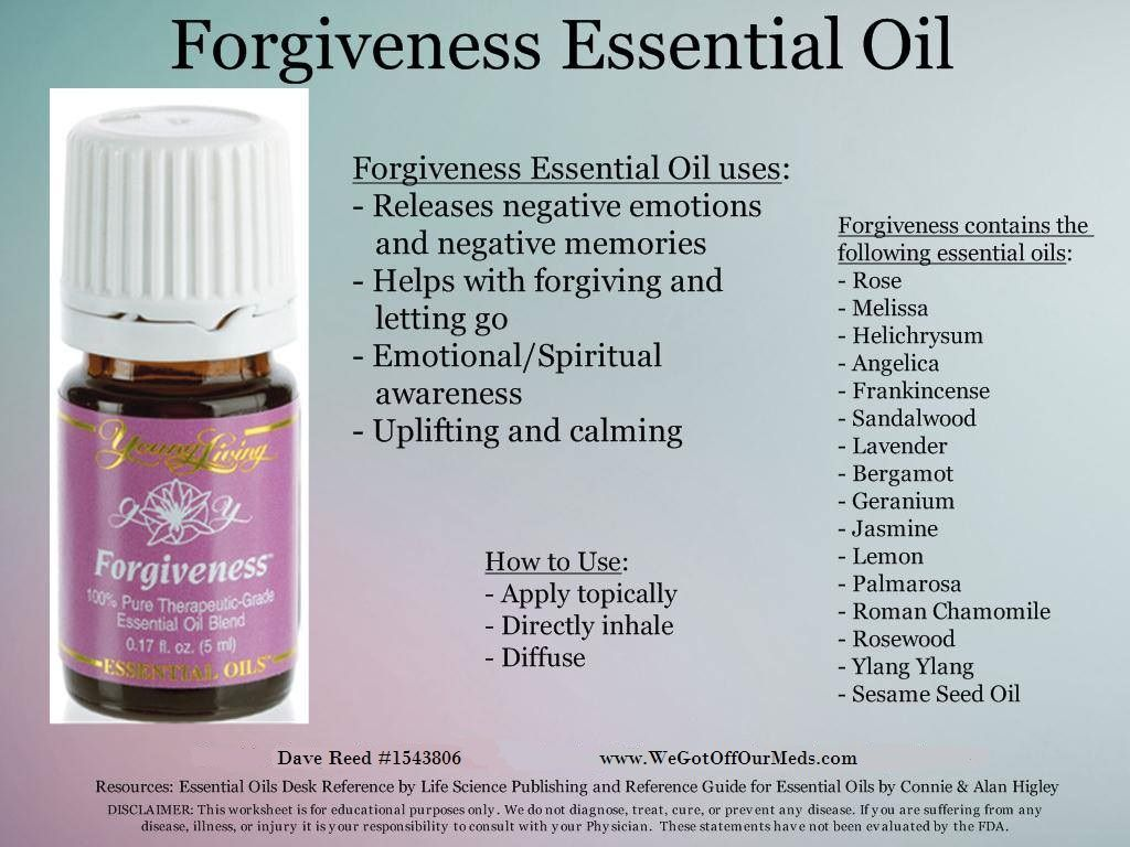 Forgiveness Essential Oil Help Release Negative Emotions And