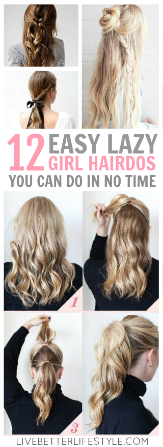 12 Super Easy Hairdos for Those Lazy Days images