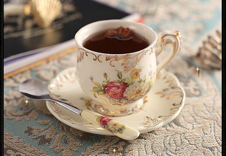 Elegante estilo real europeo amante pareja tazas de caf for Tazas de te estilo vintage
