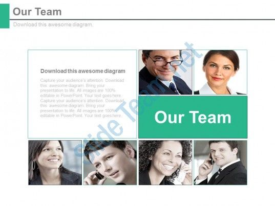 our team introduction business communication strategy powerpoint