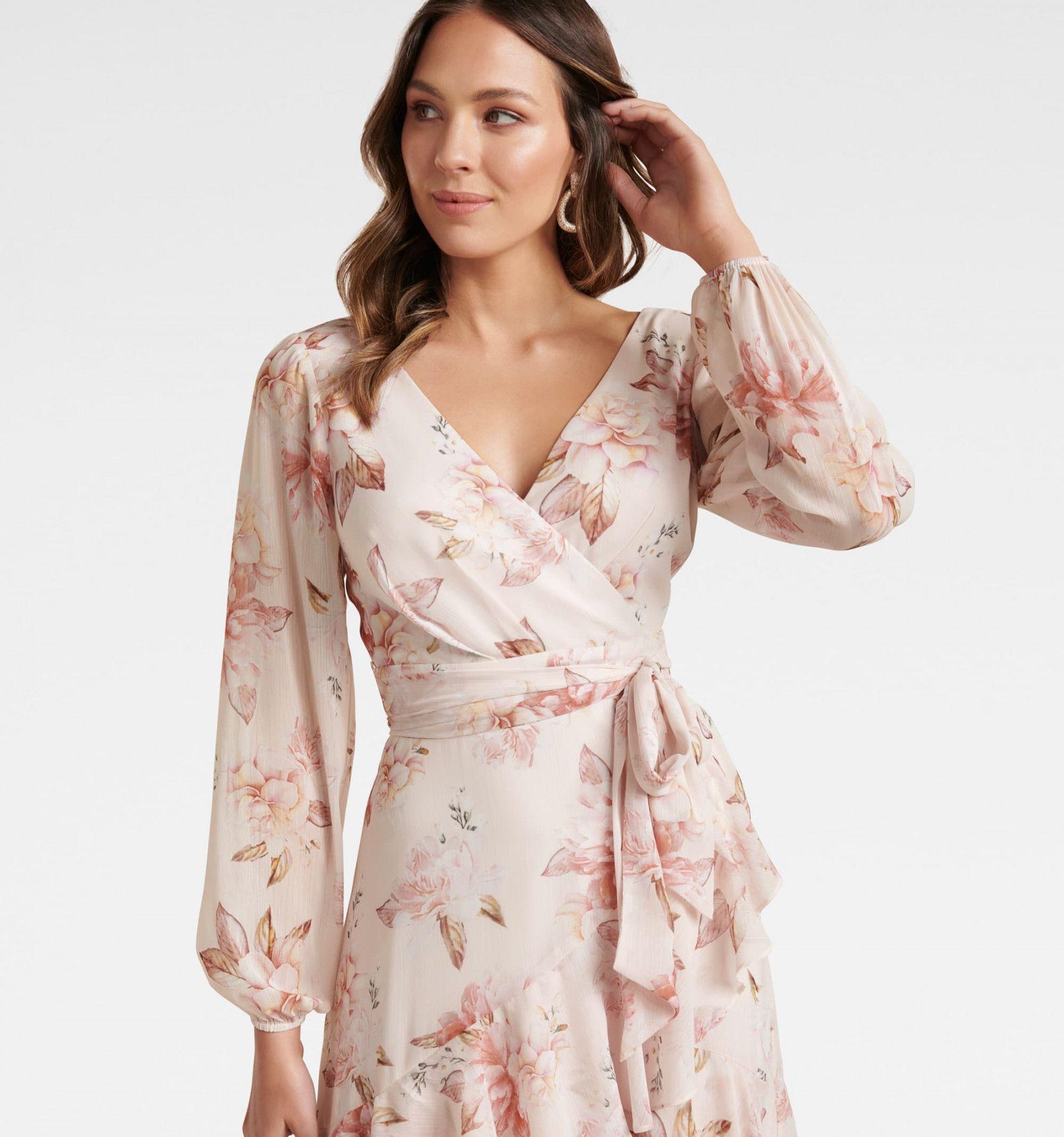 10+ Long sleeve wrap dress info