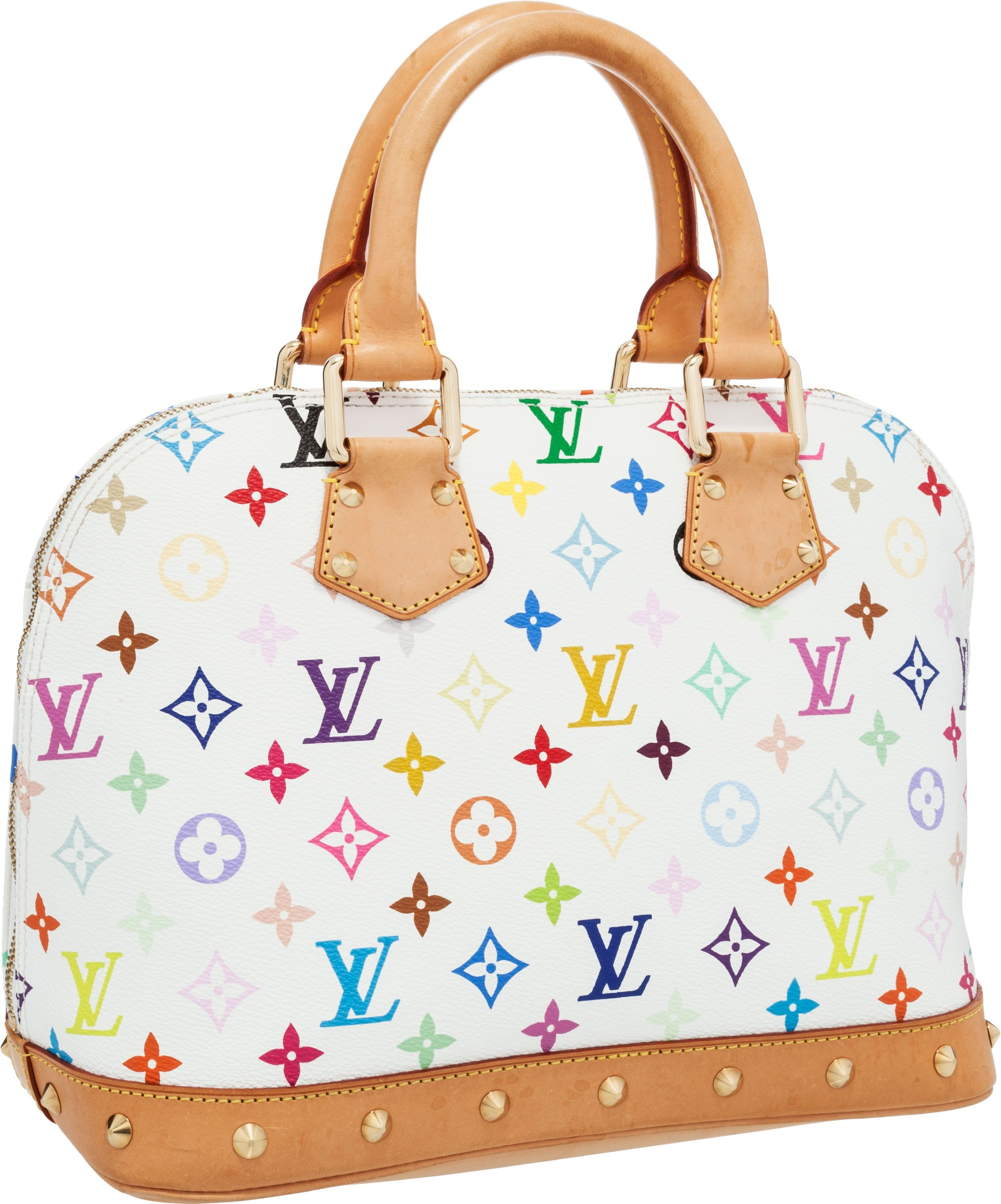 fe57294d210 Louis Vuitton White Multicolor Monogram Alma Bag | Sass and Class by ...