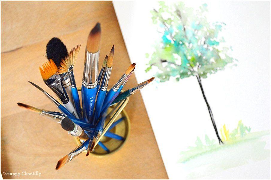 Materiel Pour Debuter A L Aquarelle 35 Aquarelle Pinceau