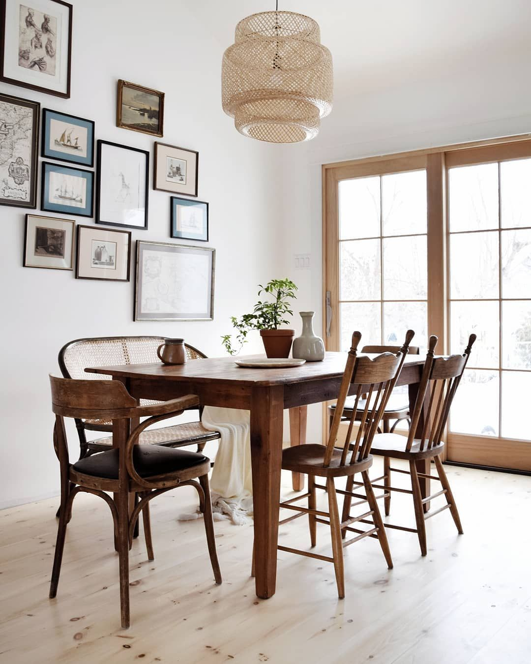 Farmhouse Style Kitchen Rustic Dining Table Ideas Kirsten Diane