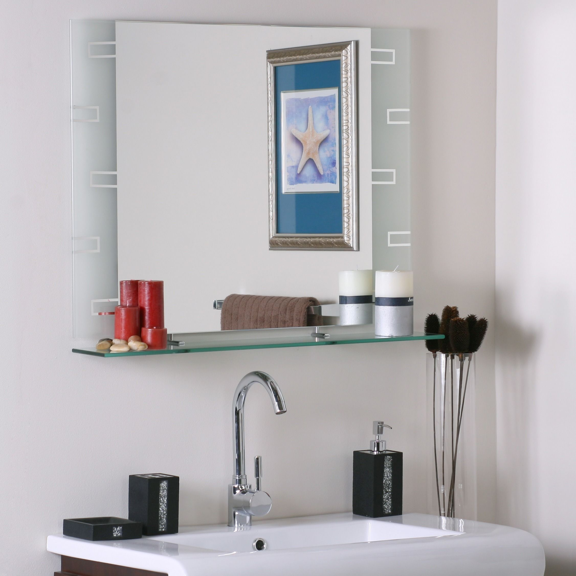 Cool Mirror Bathroom Mirrors Home Goods Free Shipping On Orders Interior Design Ideas Ghosoteloinfo