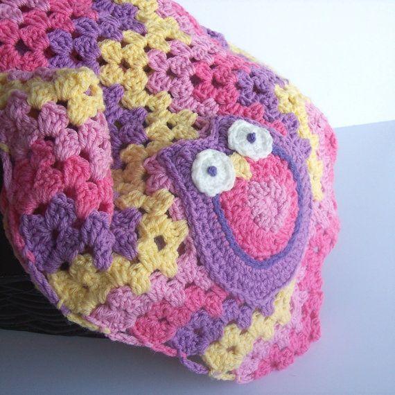 Granny Ripple Owl Granny Square Owl Baby Blanket Granny Stripe