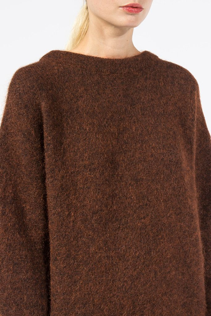 Dramatic Moh Oversized Sweater, Rust Brown by Acne Studios @ Kick ...