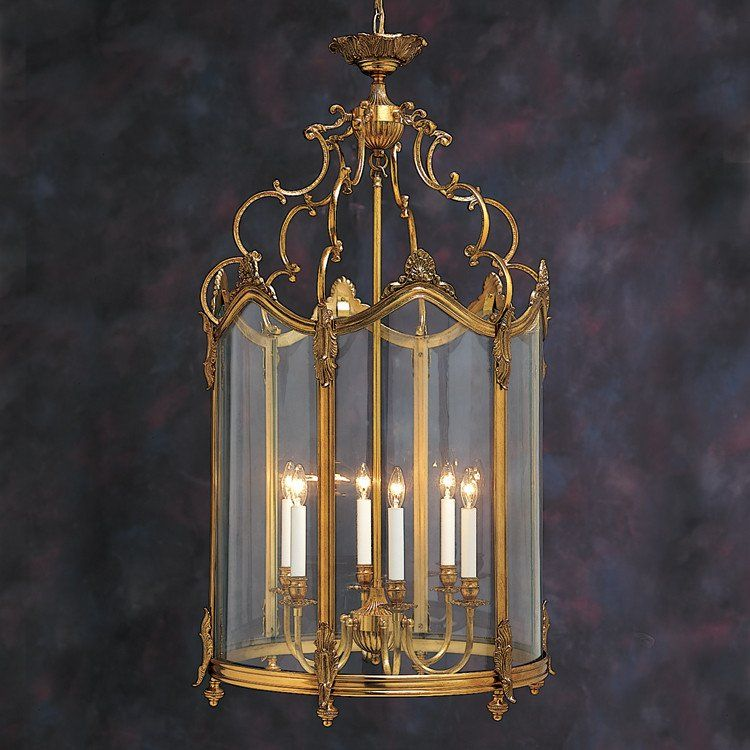 French Chateau Brass Hall Lantern French chateau Georgian and
