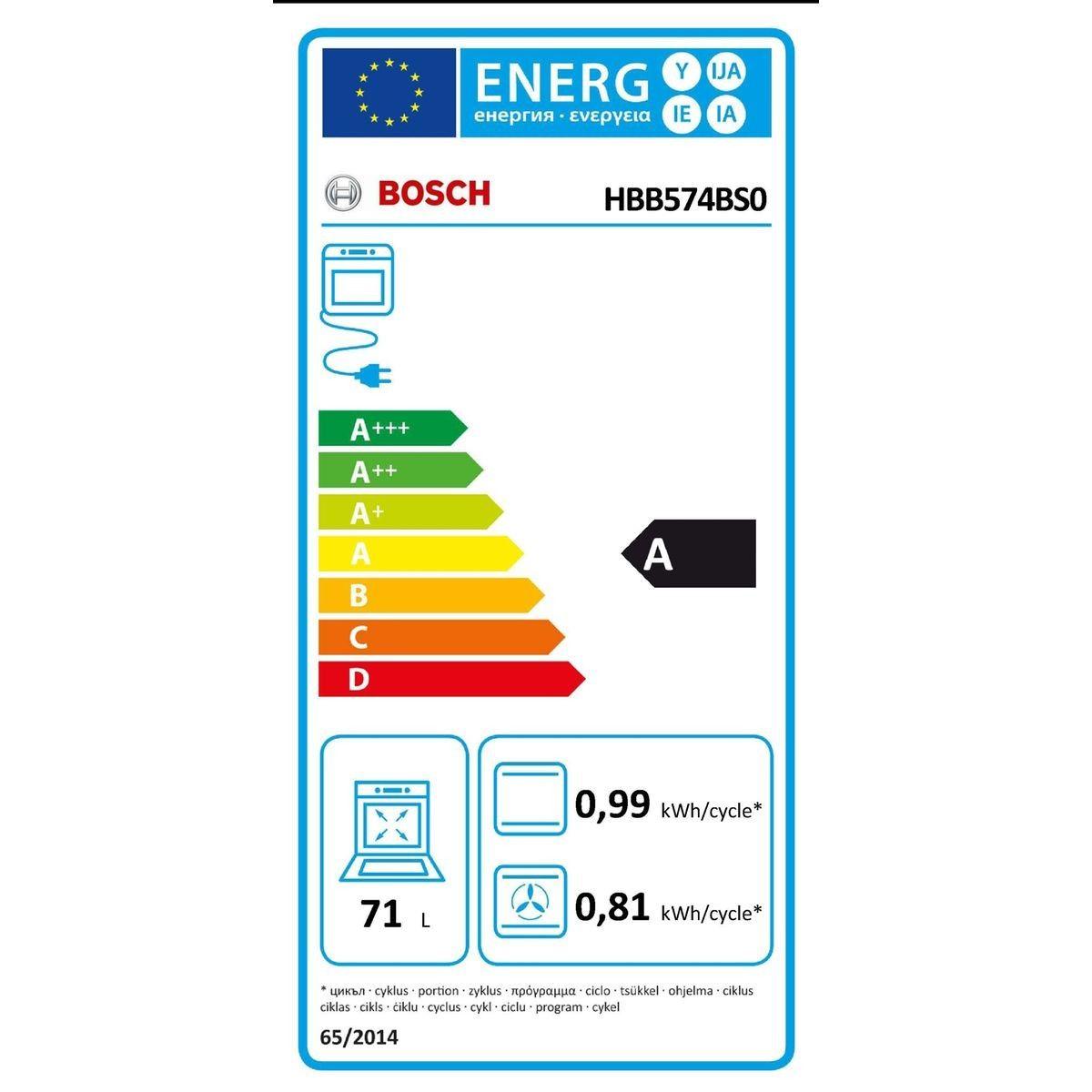 Four Encastrable Bosch Hbb574bs0 Tiroir Taille Tu Four
