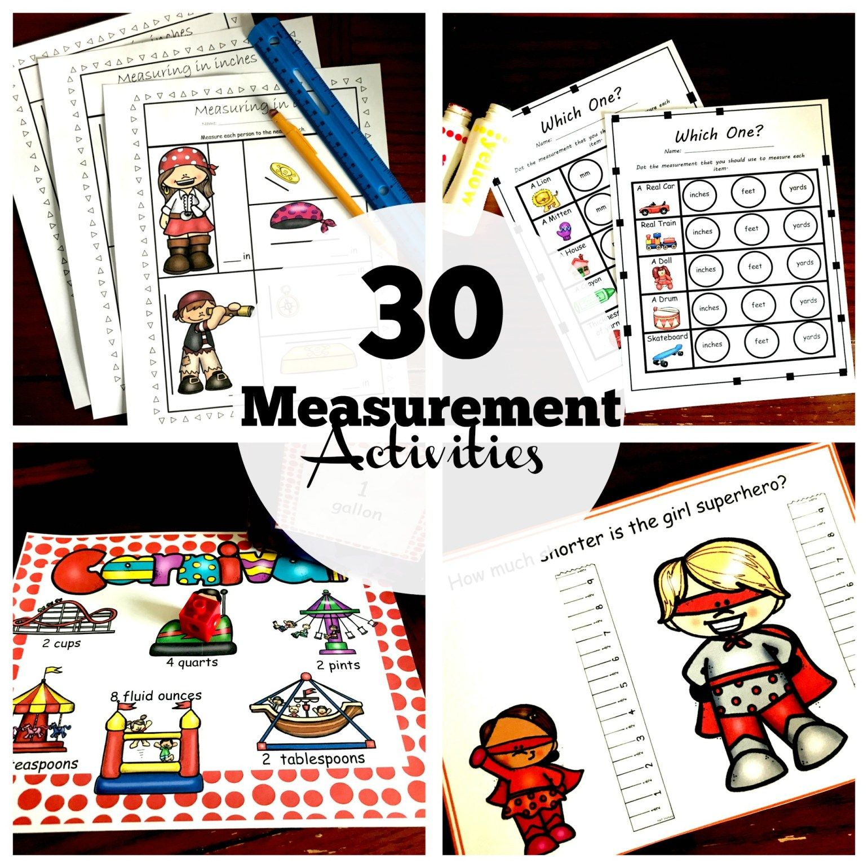 Four Measurement Tools Worksheets To Practice Choosing