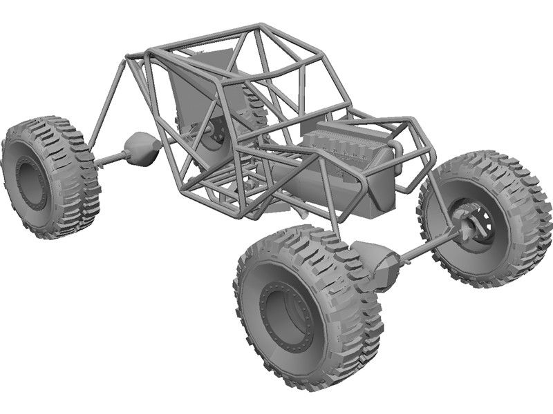 Proto Tube Rock Crawler Chassis 3D Model | Go Carts/ mini 4x4s ...