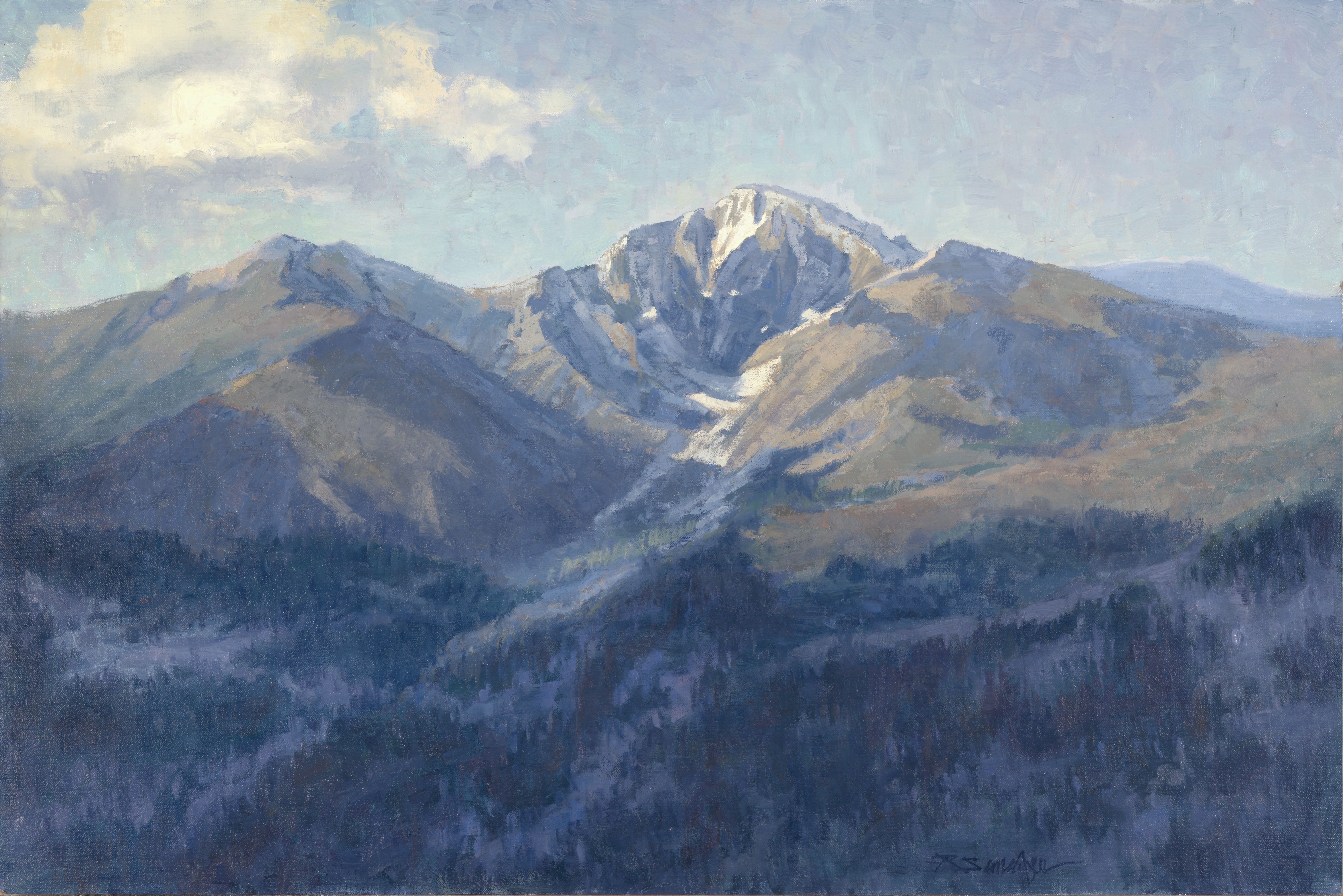 Rosie Sandifer. Long's Peak 20 x 30 oil/linen Private Collection