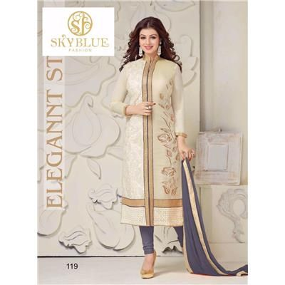 Buy Designer Gray color cotton dress material by Fashion Store, on Paytm, Price: Rs.899