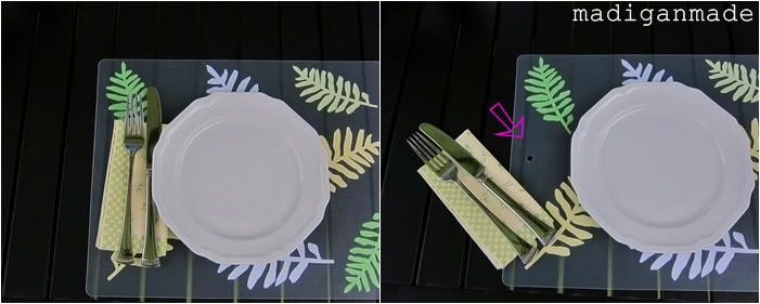 Easy Outdoor Place Mats from Plastic Chopping Mats ~ Madigan Made { simple DIY ideas }