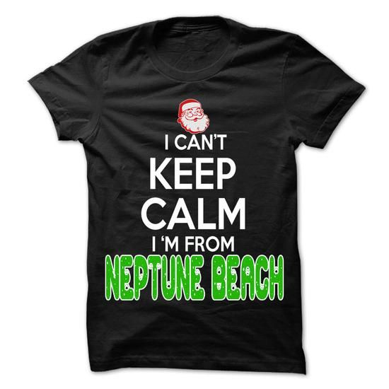 Keep Calm Neptune Beach... Christmas Time - 99 Cool Cit - #christmas gift #gift for girls. OBTAIN LOWEST PRICE => https://www.sunfrog.com/LifeStyle/Keep-Calm-Neptune-Beach-Christmas-Time--99-Cool-City-Shirt-.html?68278